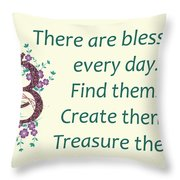 223- Blessings Throw Pillow