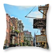 228 Charters New Orleans Throw Pillow