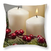 Advent Wreath Throw Pillow