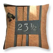 23 And One Half Throw Pillow