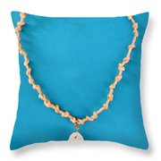 Aphrodite Gamelioi Necklace Throw Pillow