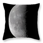 23 Day Old Waning Moon Throw Pillow