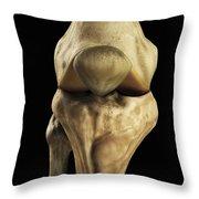 Knee Bones Right Throw Pillow