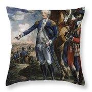 Marquis De Lafayette Throw Pillow