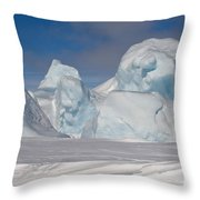 Pack Ice, Antarctica Throw Pillow