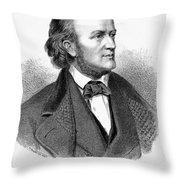 Richard Wagner (1813-1883) Throw Pillow