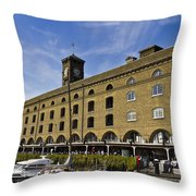 St Katherines Dock London Throw Pillow