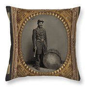 Civil War Soldier, C1863 Throw Pillow