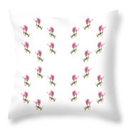 24 Dancing Pink Magnolias Square Throw Pillow
