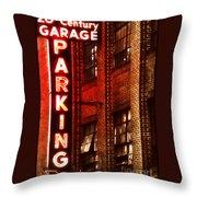 24-hour Garage Throw Pillow