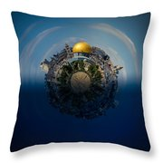 24 Hours In Jerusalem Throw Pillow