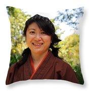 Japanese Women Throw Pillow