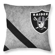 Oakland Raiders Throw Pillow