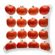 24 Tomatoes Throw Pillow