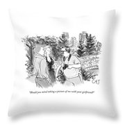 Would You Mind Taking A Picture Throw Pillow