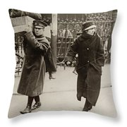 Wwi Refugees, 1918 Throw Pillow