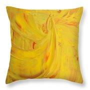 24k Yellow Gold Throw Pillow