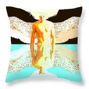 24x36 Reflective Angel Bb Throw Pillow