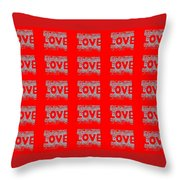 25 Affirmations Of Love In Red Throw Pillow