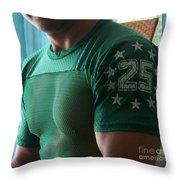 #25 Bicep Color Throw Pillow