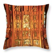 Church Wood Art Throw Pillow