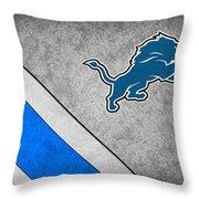 Detroit Lions Throw Pillow