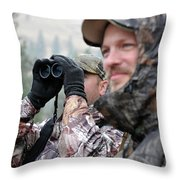 Hunting In Oregon Throw Pillow