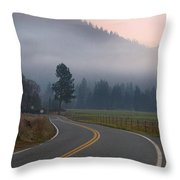 25 Mph At Dusk Throw Pillow