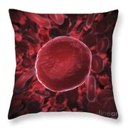Red Blood Cells Throw Pillow