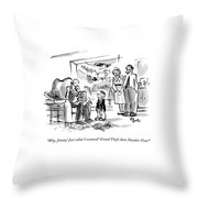Why, Jimmy! Just What I Wanted! Grand Theft Auto Throw Pillow