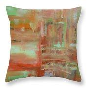Abstract Exhibit Throw Pillow