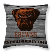Cleveland Browns Throw Pillow