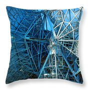 26 East Antenna Abstract 1 Throw Pillow