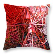 26 East Antenna Abstract 2 Throw Pillow