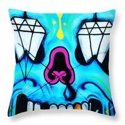 Graffiti Throw Pillow