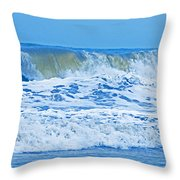 Hurricane Storm Waves Throw Pillow