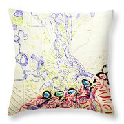 Wise Virgins Throw Pillow by Gloria Ssali