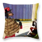Dachshund Art Canvas Print Throw Pillow