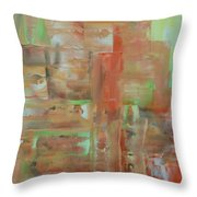 Abstract Exhibit Throw Pillow
