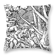Dance Of Death, 1538 Throw Pillow