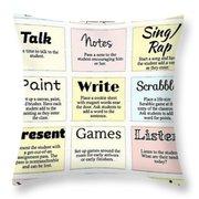 27 Ways To Greet Students Throw Pillow