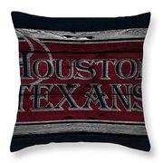 Houston Texans Throw Pillow