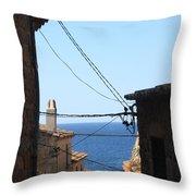 Tossa De Mar Costa Brava Throw Pillow