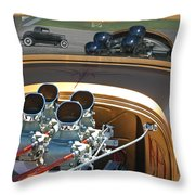 '29 Ford With '32 Ford Reflection Throw Pillow