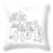 New Yorker April 23rd, 2007 Throw Pillow