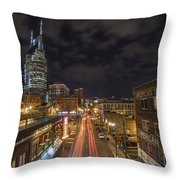 2nd Ave And Broadway Throw Pillow