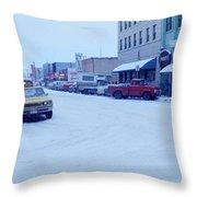 2nd Street Fairbanks Alaska 1969 Throw Pillow