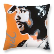 2pac In Orange Throw Pillow