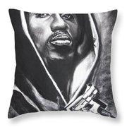 2pac - Thug Life Throw Pillow by Eric Dee