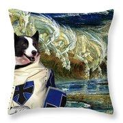 Karelian Bear Dog Art Canvas Print Throw Pillow